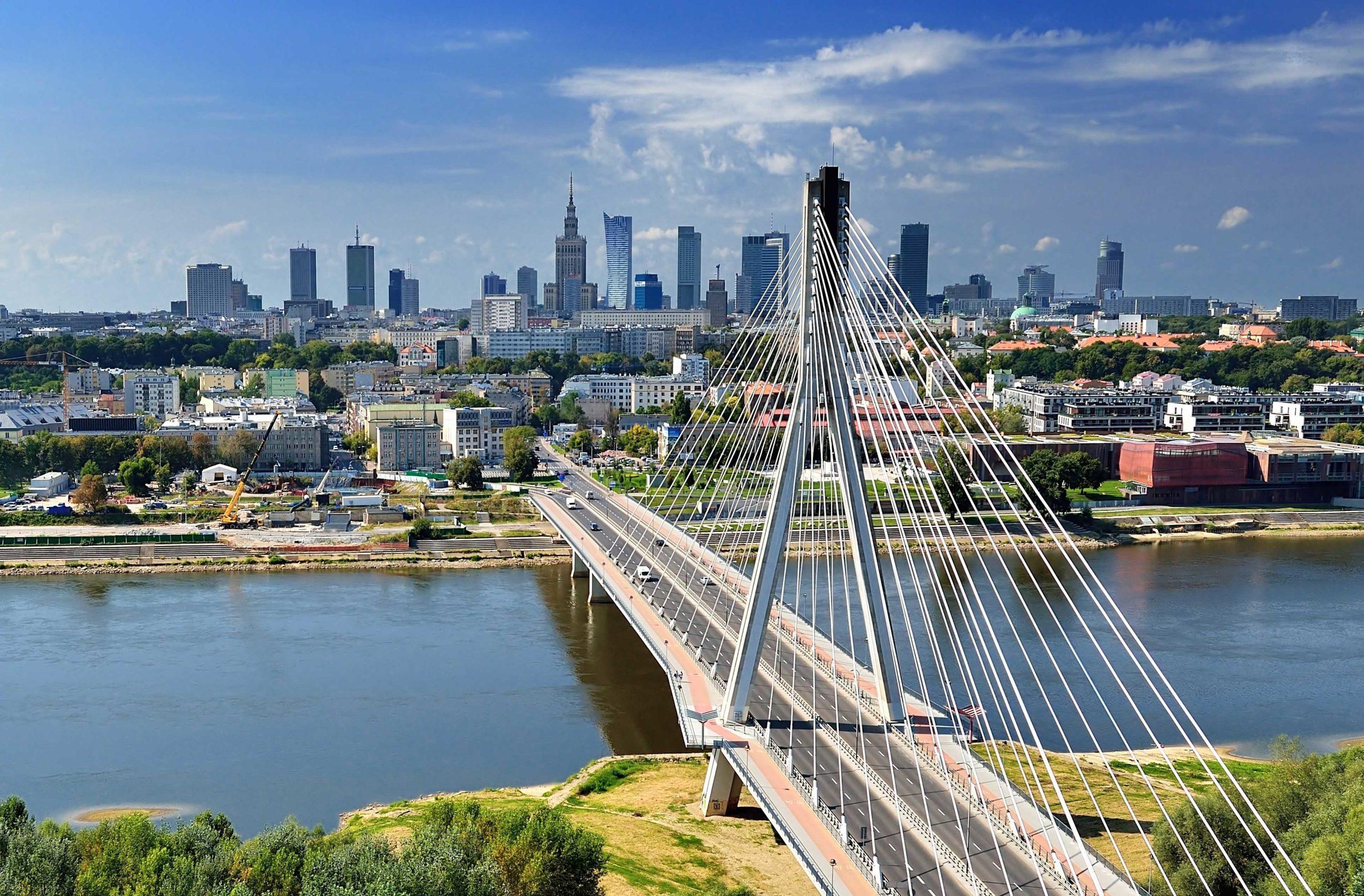 Warsaw - bird's-eye view.